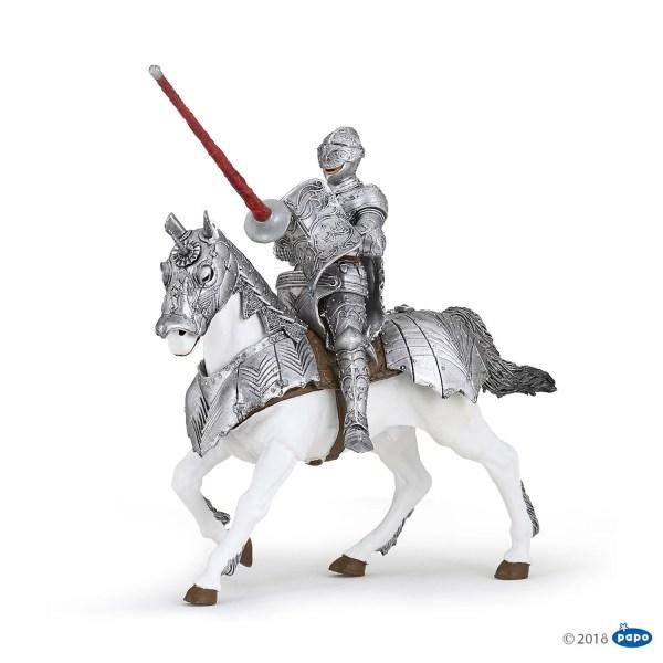 Figurines Chevaliers, Chevalier en armure et son cheval, Papo, Bidiboule