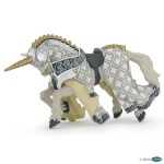 Cheval blanc licorne
