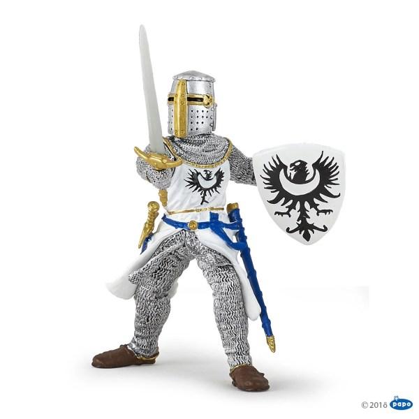 Figurines Chevaliers, Chevalier blanc à l épée, Papo, Bidiboule