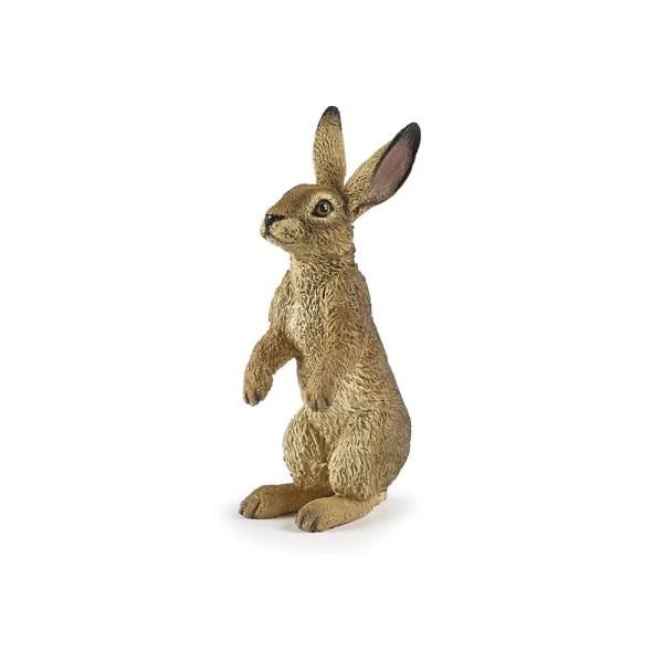 Figurine Les animaux du jardin, Lièvre debout, Papo, Bidiboule