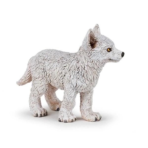 Figurine Les animaux de la forêt, Bébé loup polaire, Papo, Bidiboule