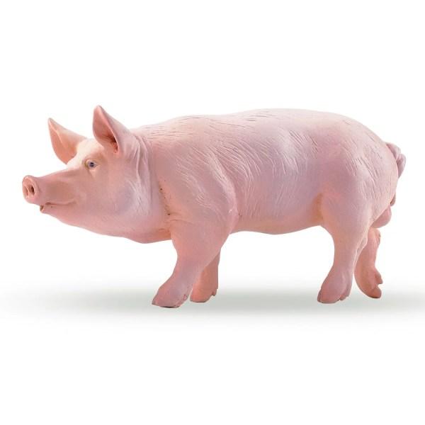 Figurines Animaux de la ferme, Verrat cochon, Papo, Bidiboule