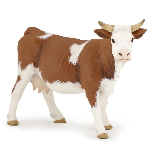 Figurines Animaux de la ferme, Vache simmental, Papo, Bidiboule