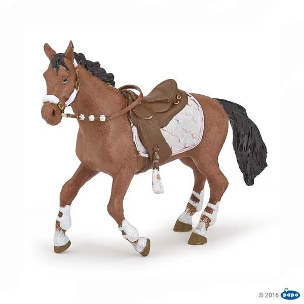 Figurines Chevaux, Cheval de la cavalière fashion hiver, Papo, Bidiboule