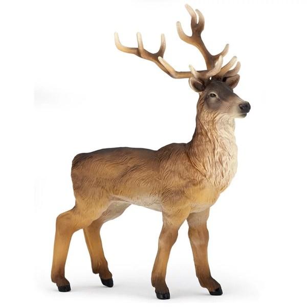 Figurine Les animaux de la forêt, Cerf, Papo, Bidiboule