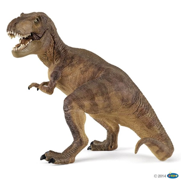 Figurines Dinosaures, T-rex marron, Papo, Bidiboule