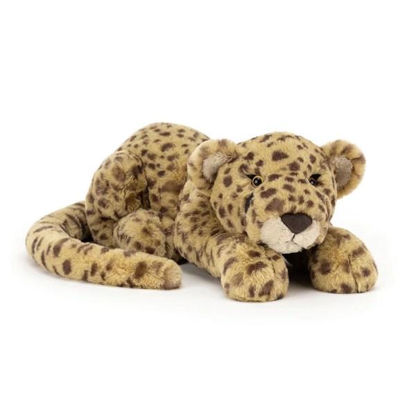 Charley le Guépard, grande taille, Peluche, Jellycat, Bidiboule