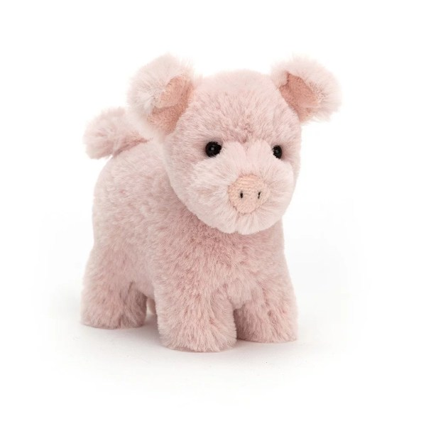Les peluches se déclinent en plusieurs sortes d'animaux : ici le cochon à la peau toute rose et moelleuse.