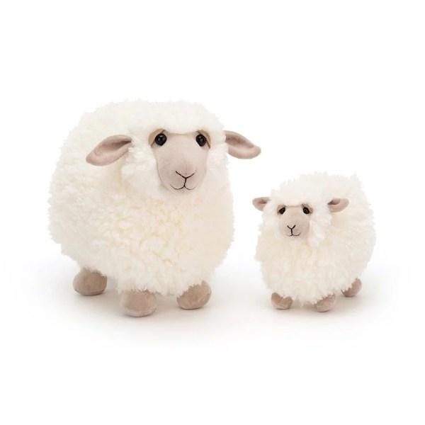 Peluche Rolbie le mouton Moutons blancs 28 et 18 cm
