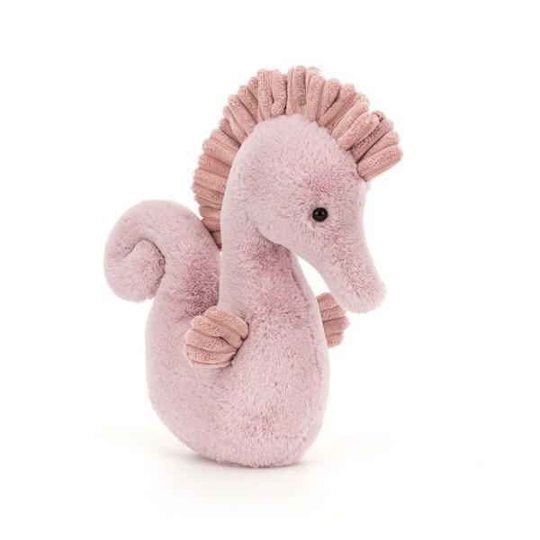 La peluche Sienna l'Hippocampe est une peluche très douce qui représente un hippocampe. C'est un doudou qui convient aux bébés dès leur naissance.