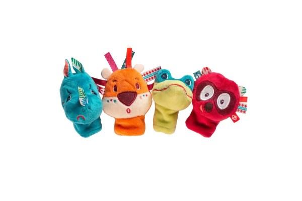 Des marionnettes à doigts à l'image des animaux de la jungle aux belles couleurs vives