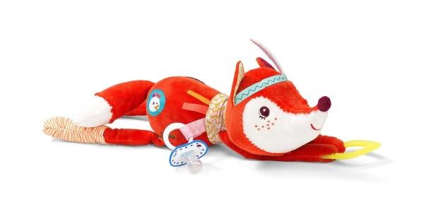 Les bébés vont adorer les belles couleurs vives du jouet d'activités Alice la Renarde.
