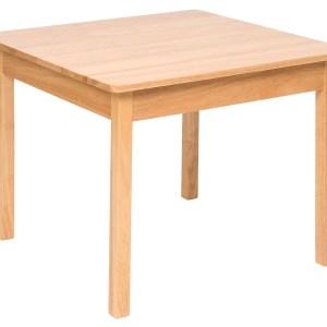 Parfaitement adaptée à la taille des jeunes enfants, cette table en bois massif pour enfant de forme carrée est fabriquée en bois de caoutchouc de haute qualité.