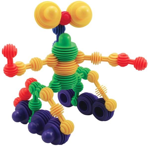 Ce jeu de construction éducatif est constitué de 280 boules en plastique emboîtables qui s'encastrent les unes dans les autres dans tous les sens.
