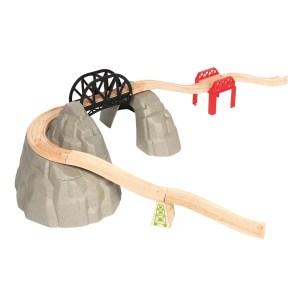 Pont montagne train bois