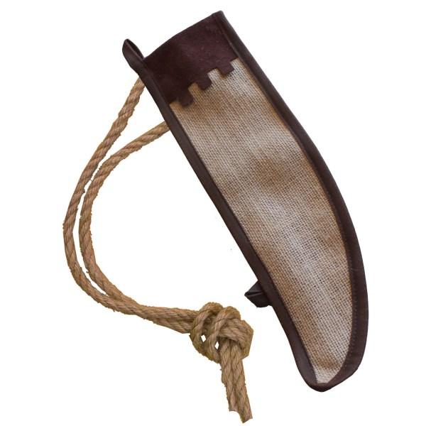 grand carquois en jute avec une corde pour l'attacher