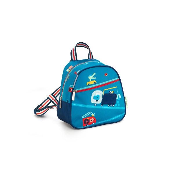 La sac à dos En route est un sac à dos spécialement conçu pour les jeunes enfants. Très pratique, il dispose d'un grand espace de rangement et de plusieurs poches dont une grande poche à fermeture éclair sur le devant.