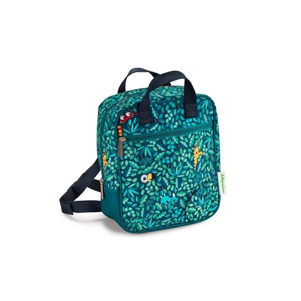 Le sac à dos Jungle est un sac à dos de forme rectangulaire spécialement conçu pour les jeunes enfants, garçons ou filles.