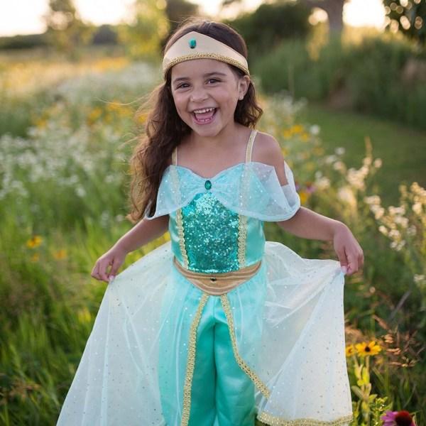 Robe de la princesse Jasmine portée par une enfant