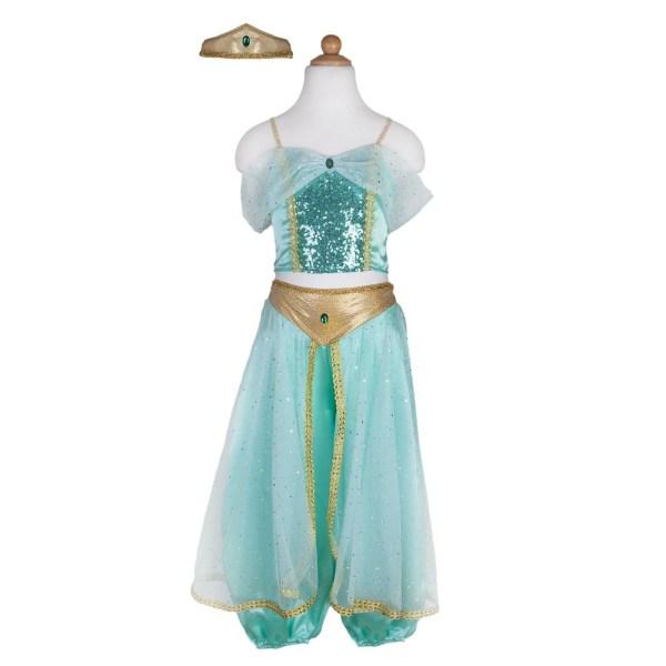 Robe de la princesse Jasmine de couleur turquoise