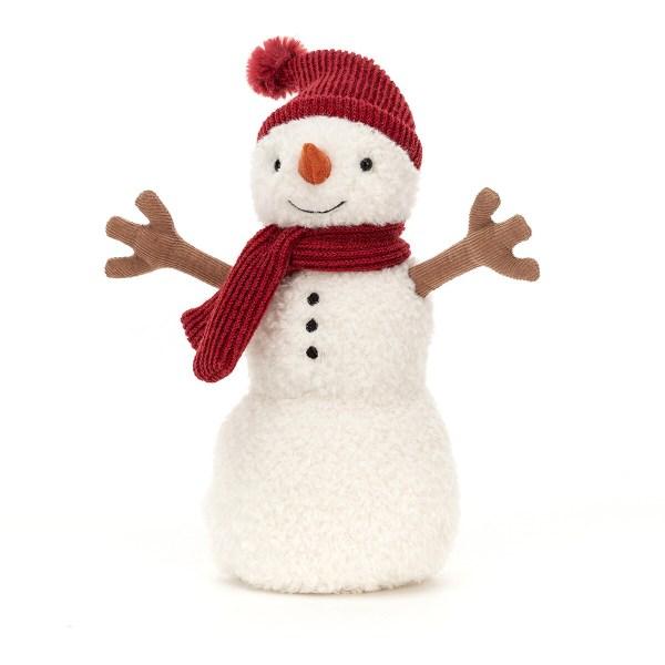 Sa peau cotonneuse très douce d'un blanc laiteux imite la neige et tous ses accessoires sont de texture très douce aussi. Bébé adorera manipuler tous ces petits équipements et sera amusé par l'air sympathique de ce personnage rigolo. Les détails particulièrement soigné de la peluche en feront aussi un bel objet de décoration. Deux tailles sont disponibles au choix : une grande et une moyenne.