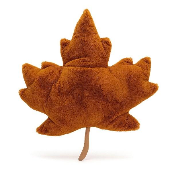 La feuille d'érable impressionne par sa belle couleur de feu qui rappelle les couleurs de l'automne et par la découpe de sa magnifique silhouette
