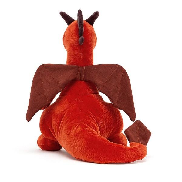 Son air très gentil fera de ce doudou un ange gardien dont ne veut plus se séparer. La peluche Paprika le Dragon sera un cadeau de naissance original.