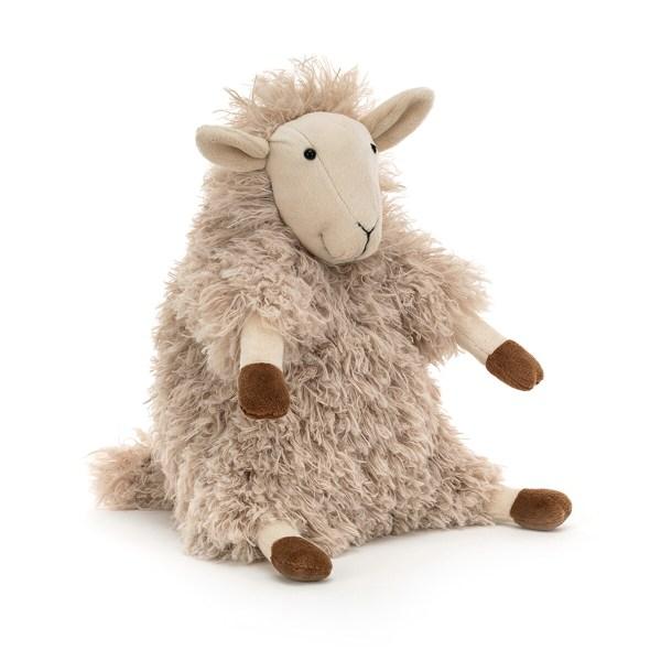 La peluche Sherri le mouton est une peluche rigolote en forme de mouton qui convient aux enfants à partir de 12 mois. Ce petit mouton a une texture très douce et tient bien assis sur ses pattes de derrière, un peu comme Bébé !