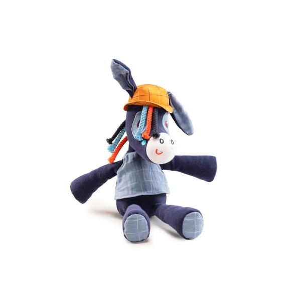 La peluche câline biologique Ignace l'âne est un bonne idée pour un cadeau de naissance !