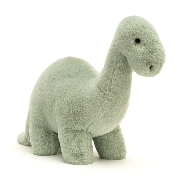La peluche dinosaure Brontosaure Fossily est une peluche très douce qui convient parfaitement aux bébés dès la naissance. Avec sa belle couleur vert d'eau et son pelage d'une très grande douceur, la peluche dinosaure Brontosaure Fossily va charmer les tout-petits.