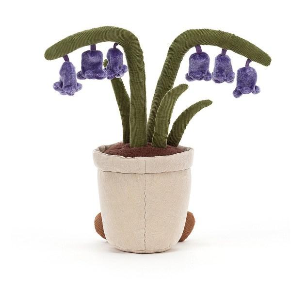 Les fleursde la jacinthe des bois sont de couleur bleu indigo et ont la forme de petites clochettes.