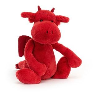 Peluche Bashful Dragon rouge