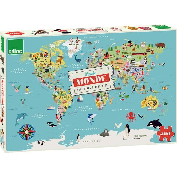 boite du Puzzle carte du Monde