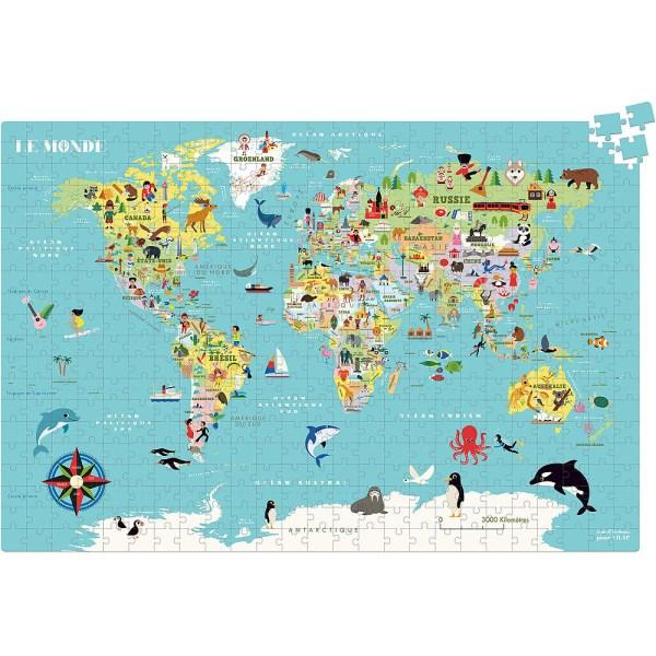 Puzzle carte du Monde 500 pièces