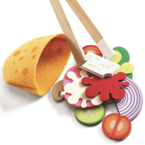 Street Food Cyrus & Léna détails des aliments et du pain pita