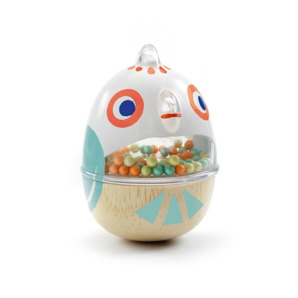 Hochet BabyCot en forme d'oeuf avec un visage de poussin