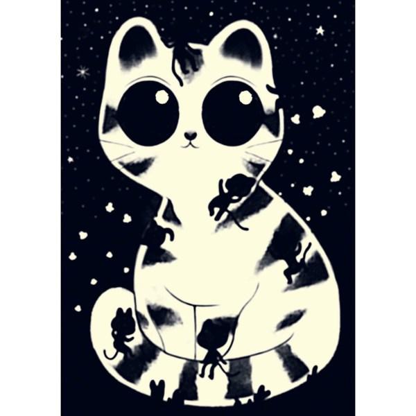 Puzzle phosphorescent chats câlins 50 pièces image phosphorescente