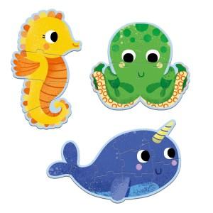 Puzzles évolutifs de la Mer 4-6-9 pièces