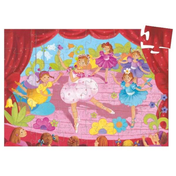 Puzzle ballerine 36 pièces avec une scène de ballet et plusieurs danseuses