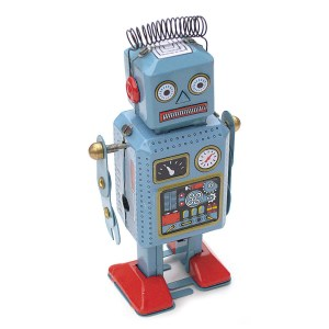 Robot en métal à remonter
