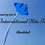 I found my star at the International Kite Festival, Ahmedabad