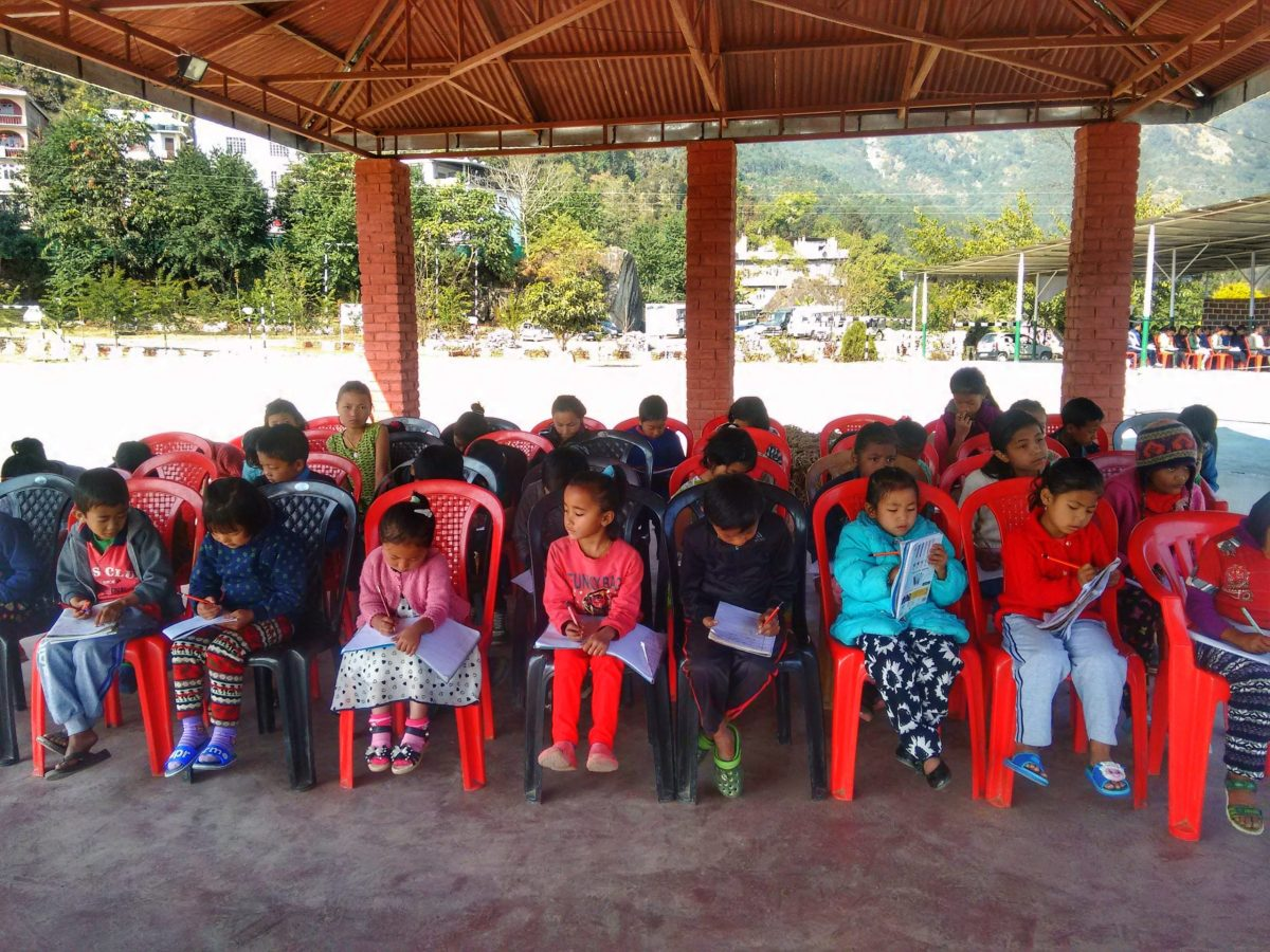 Children at the Community Outreach program