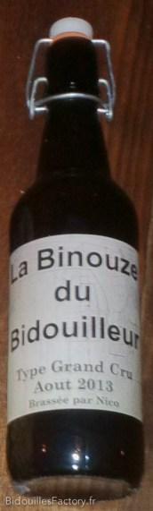 Une bouteille avec l'étiquette