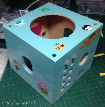 La boîte après peinture des personnages
