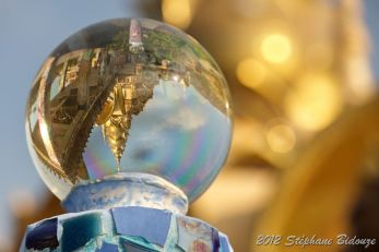 temple in crystal ball