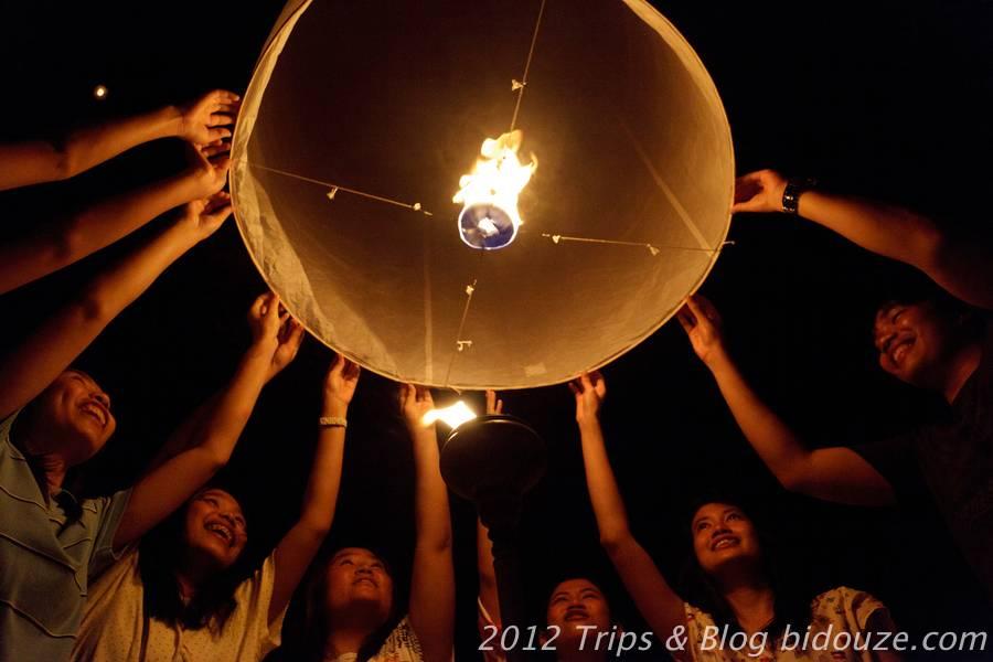 Cérémonie des Lanternes à Mae Jo