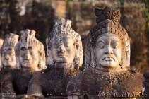 Angkor south door statues