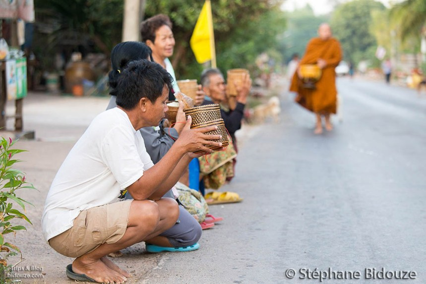 Daily monk alms in Thailand