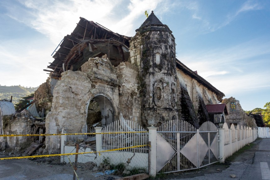 The old church is considerably damaged