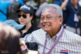 "Suthep Thaugsuban, leader du ""People's Democratic Reform Committee"" (PDRC)"